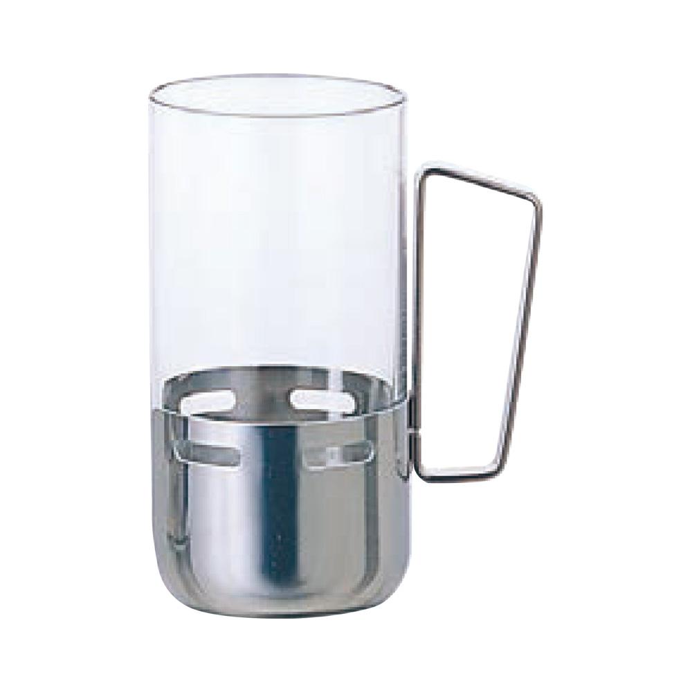 日本ADERIA 不銹鋼握把強化杯240ml