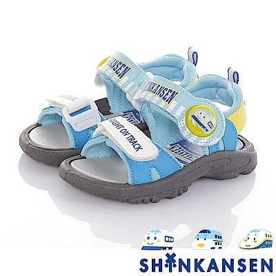 三麗鷗 新幹線童鞋 減壓防滑運動休閒電燈涼鞋-水