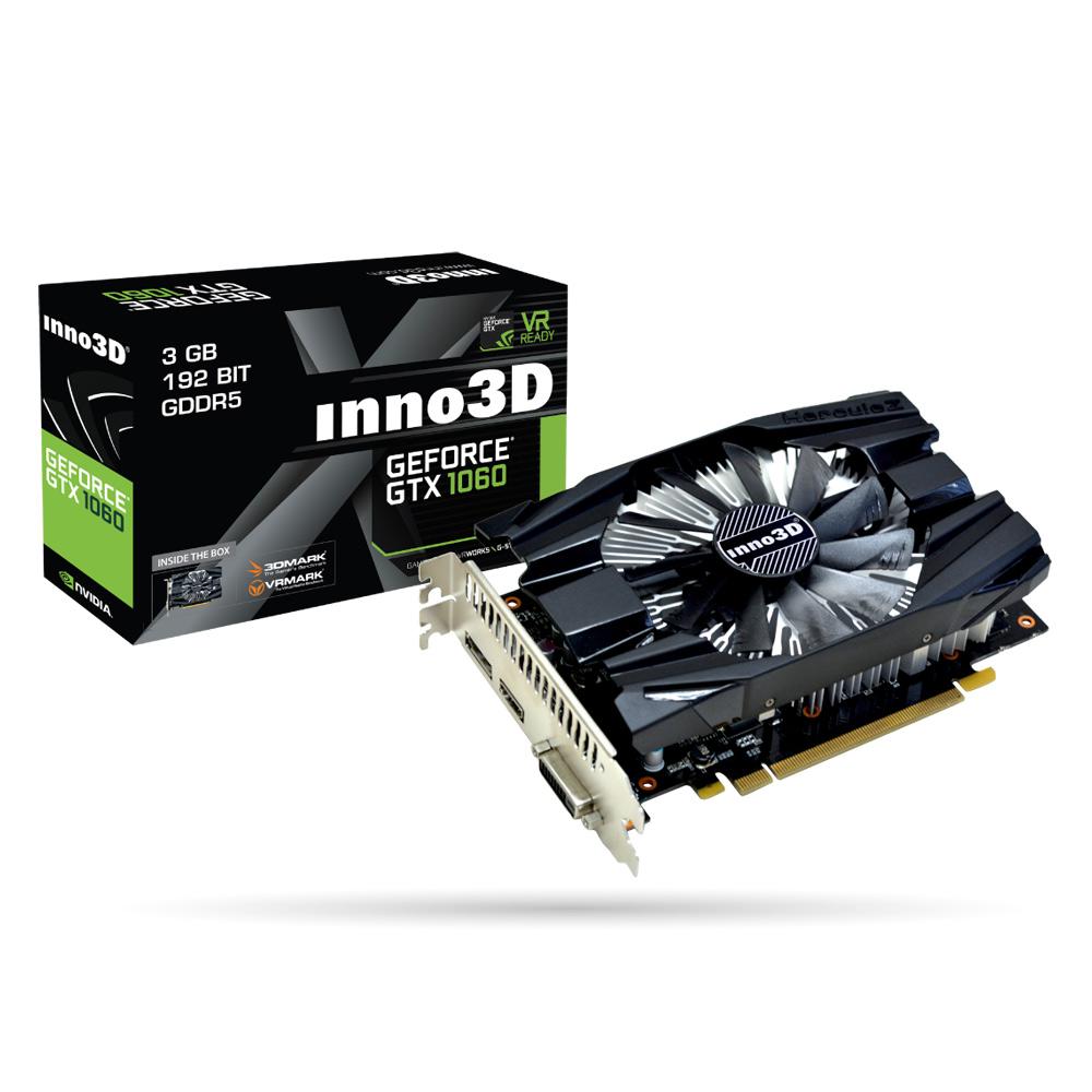 映眾顯示卡Inno3D GeForce GTX 1060 3GB Compact