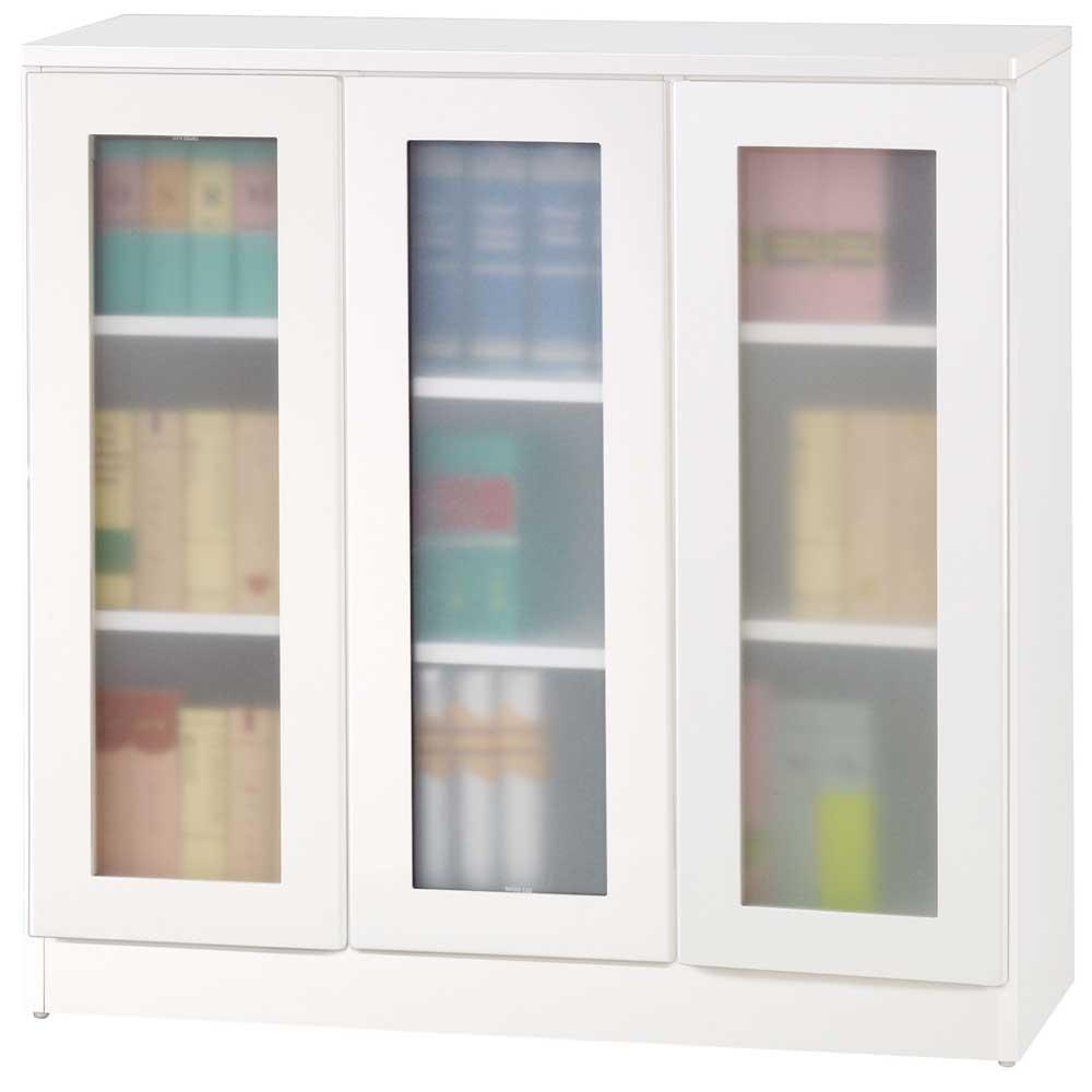 夢想家威尼斯3尺三玻璃門鏡面PU書櫃