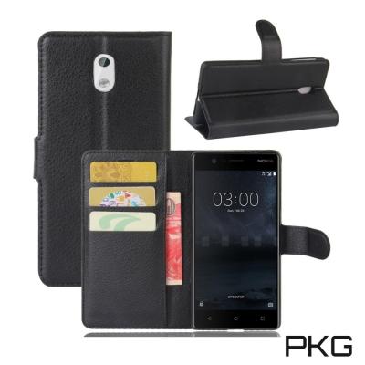 PKG Nokia 5 皮套側翻式皮套-經典皮革系列-黑色