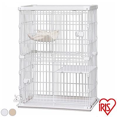 日本 IRIS 木紋質感 2層室內貓籠(PWCR-962)共2色可選