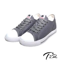 【韓國T2R】百搭帆布隱形氣墊增高鞋 7CM 灰