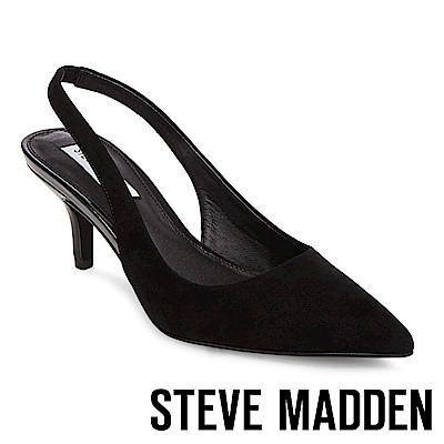 STEVE MADDEN-MARKS 尖頭細跟涼鞋-黑色