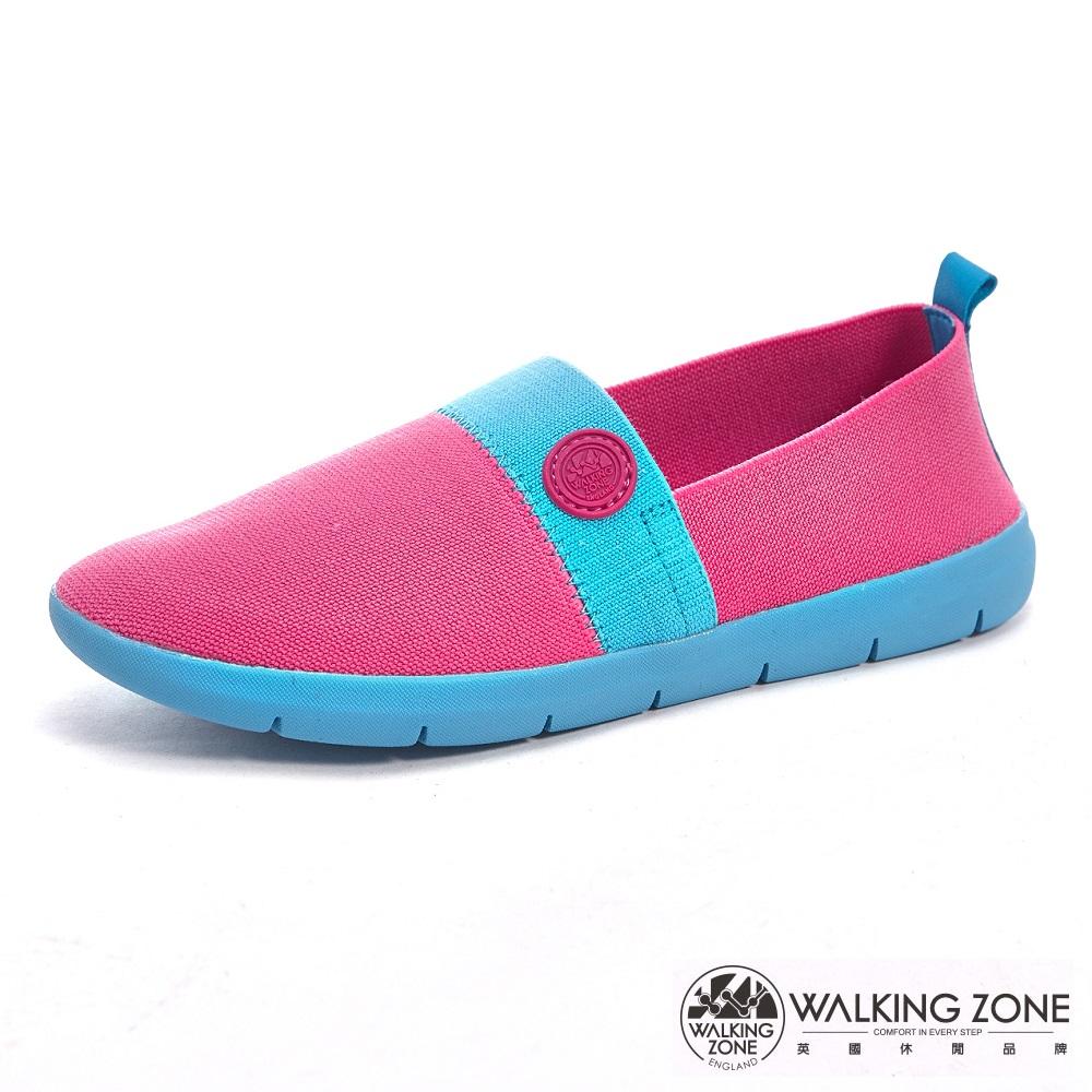【WALKING ZONE】COLOR RUN-3D超彈力休閒女鞋-桃