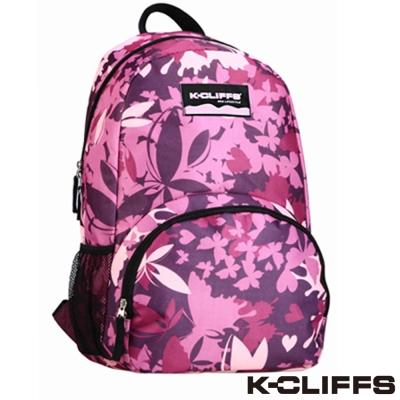 美國K-CLIFFS 潮流花漾蝶迷彩時尚後背包 粉