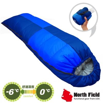 【美國 North Field】杜邦Tactel 頂級白羽絨睡袋600g_岩藍