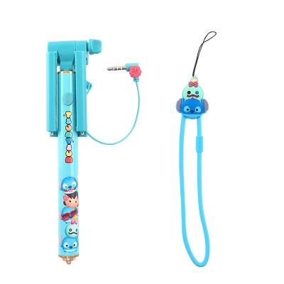 Disney迪士尼TsumTsum Mini輕巧迷你自拍棒 自拍神器可伸縮免藍牙_史迪奇