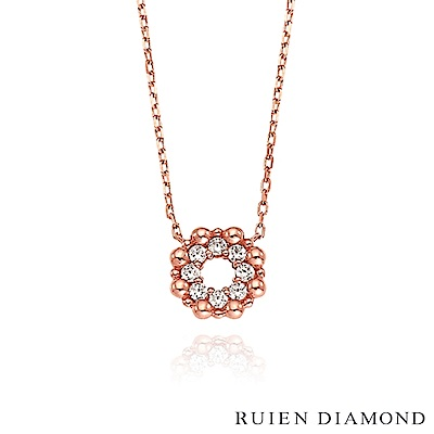 RUIEN DIAMOND 韓國輕珠寶 飾品 配件14K玫瑰金 項鍊 LN165