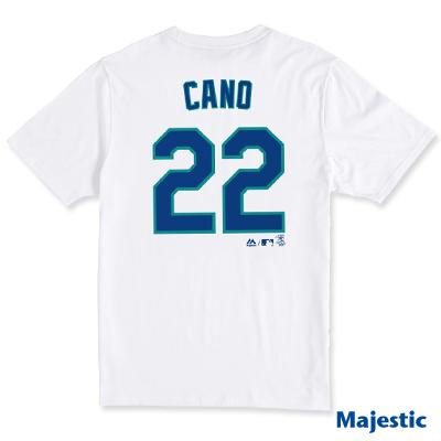 Majestic-西雅圖水手隊CANO背號22號T恤-白