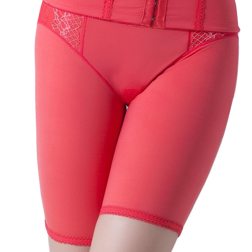 思薇爾 塑美波系列輕機能高腰長筒束褲(烈日紅)