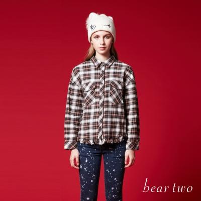 beartwo 經典格紋抽鬚襯衫(二色)