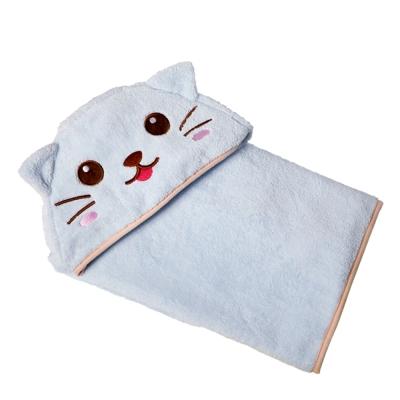 COTEX可愛動物大浴巾-凱特貓(藍色)
