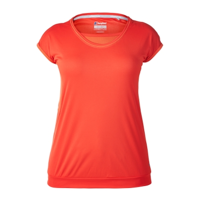 【Berghaus 貝豪斯】女款機能型銀離子短袖S04F10-紅