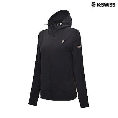 K-Swiss Track Knit Jacket 運動連帽外套-女-黑