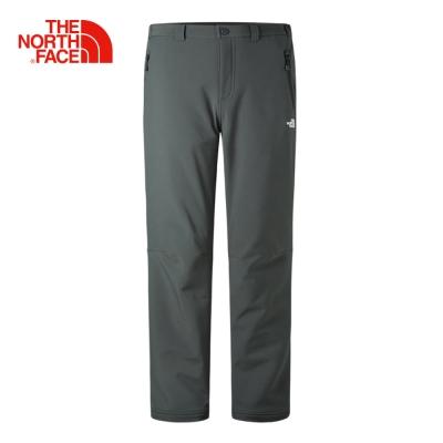 The North Face 北面男款深灰色防風保暖抓絨長褲
