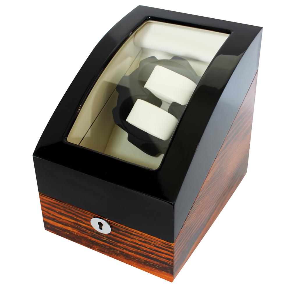 自動上鍊盒2+3/鋼琴烤漆虎斑/雙色款收藏納錶盒/自動12/日本馬達