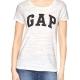 GAP-女生-短袖-T恤-白-0351