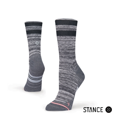 STANCE UNCOMMON SOLID RUN CREW-女襪-慢跑機能襪