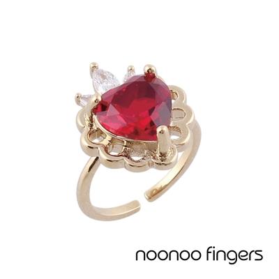 Noonoo Fingers AC Lace Heart 花邊愛心 鑲水鑽 戒指