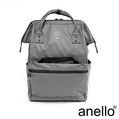 anello 霧光質感大口防水後背包 灰色 M尺寸