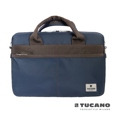 TUCANO Shine slim 13.3吋薄型輕便手提肩背二用電腦包-藍
