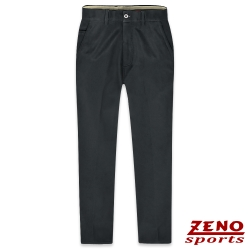 ZENO 保暖刷毛彈性直紋無摺長褲‧暗灰30-42