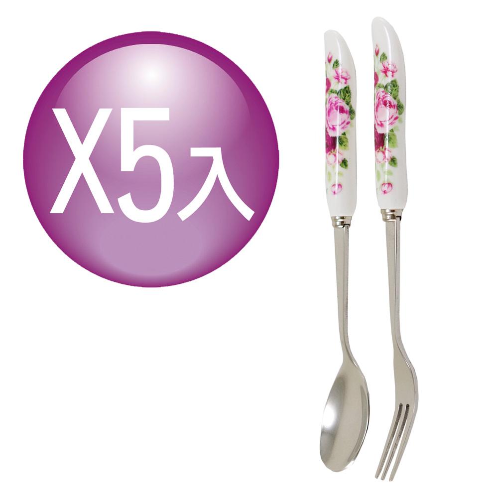 【G&W】紅玫瑰叉匙組X5(GW-3112)