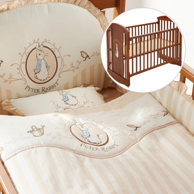 奇哥 比得兔中床+優雅比得兔六件床組-M