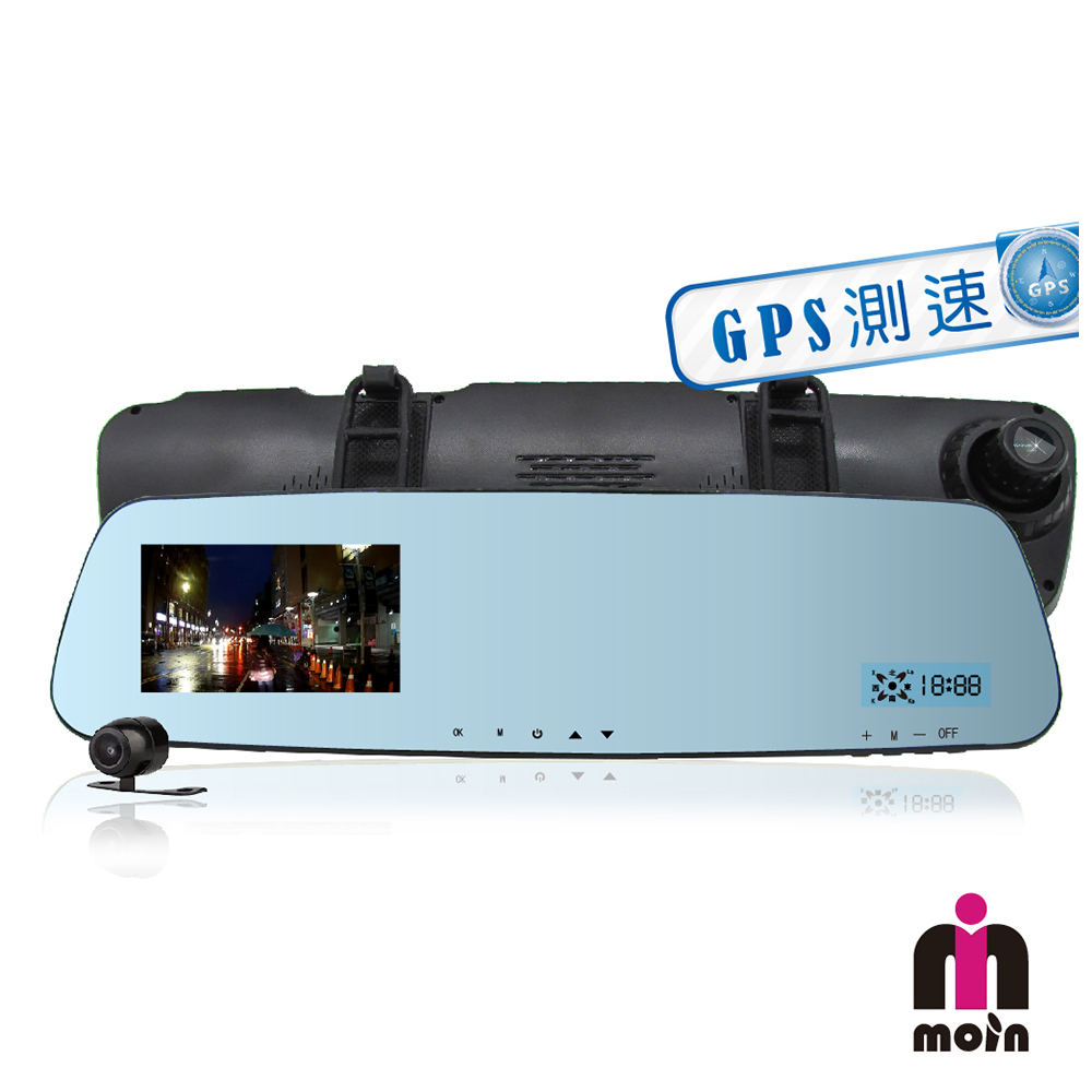 【MOIN】G20XW GPS測速前後雙鏡頭 行車紀錄(贈16G)
