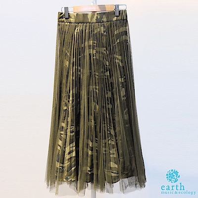 earth music 迷彩紗裙