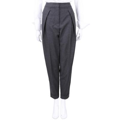 Max Mara-SPORTMAX 深灰色羊毛材質老爺褲
