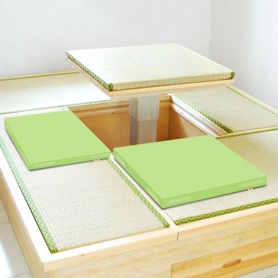 超厚6cm環保PU皮革 和室坐墊 -粉綠2片/組 LOG樂格