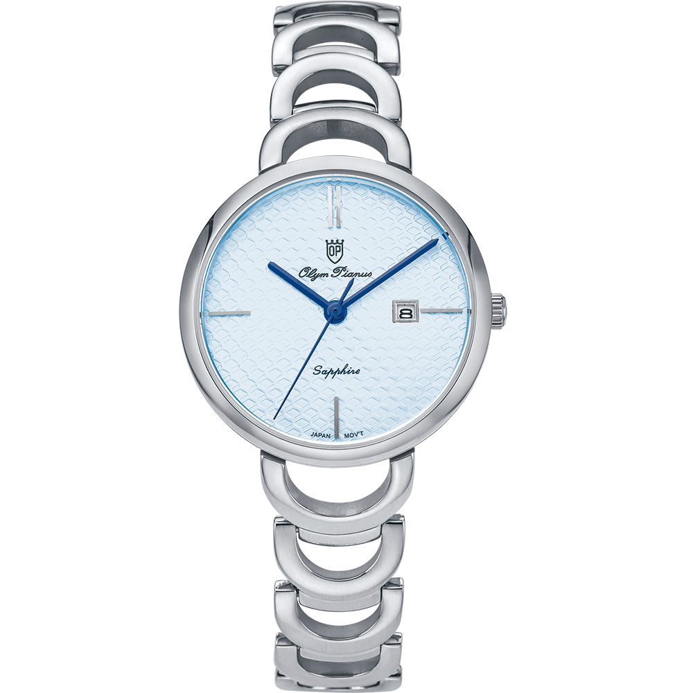 Olym Pianus 奧柏表 靜謐時光石英腕錶-藍 2490LS