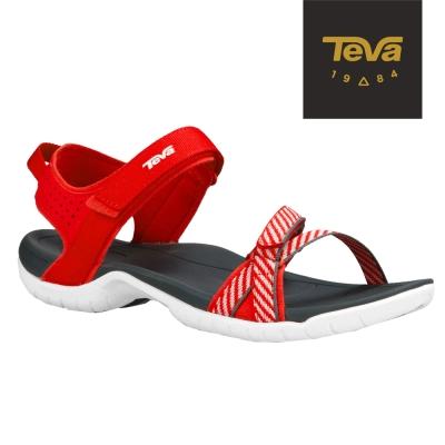 TEVA 美國 女 Verra 機能運動涼鞋 (條紋紅)