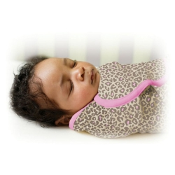 美國 Summer Infant 嬰兒包巾 懶人包巾薄款 -純棉S 粉紅豹