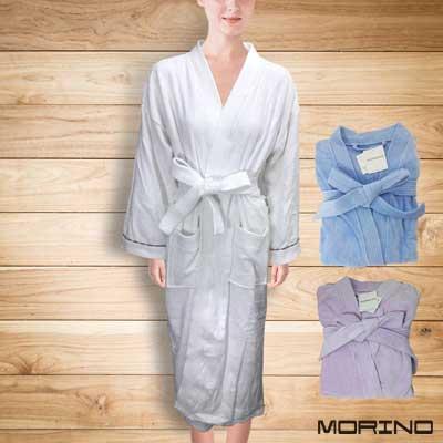 純棉奢華風飯店級浴袍 睡袍 MORINO摩力諾