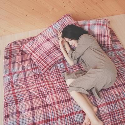 葉月 台灣製 雙人加大-超厚法蘭絨防靜電專利日式床墊-英倫毛呢