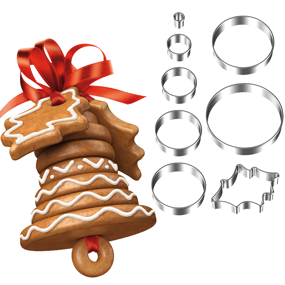 TESCOMA 立體餅乾切模8件(聖誕鈴鐺)