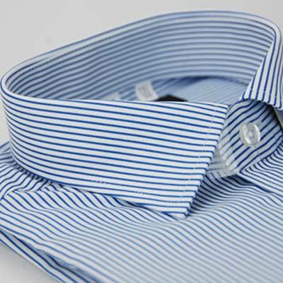 金‧安德森 藍白條紋窄版長袖襯衫