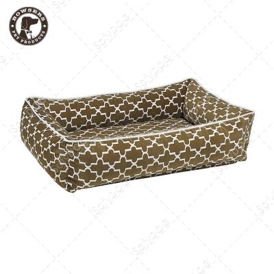 BOWSERS都會極適寵物方床-棕色普普風-M