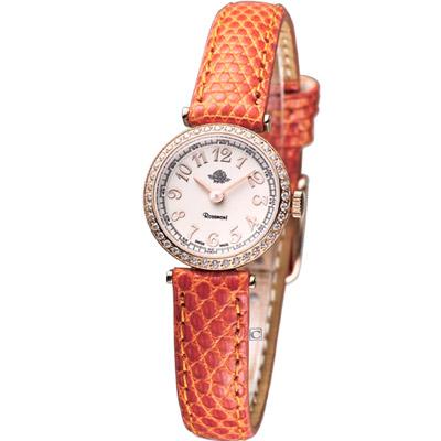 Rosemont 茶香玫瑰系列 超薄晶鑽時尚腕錶-20mm