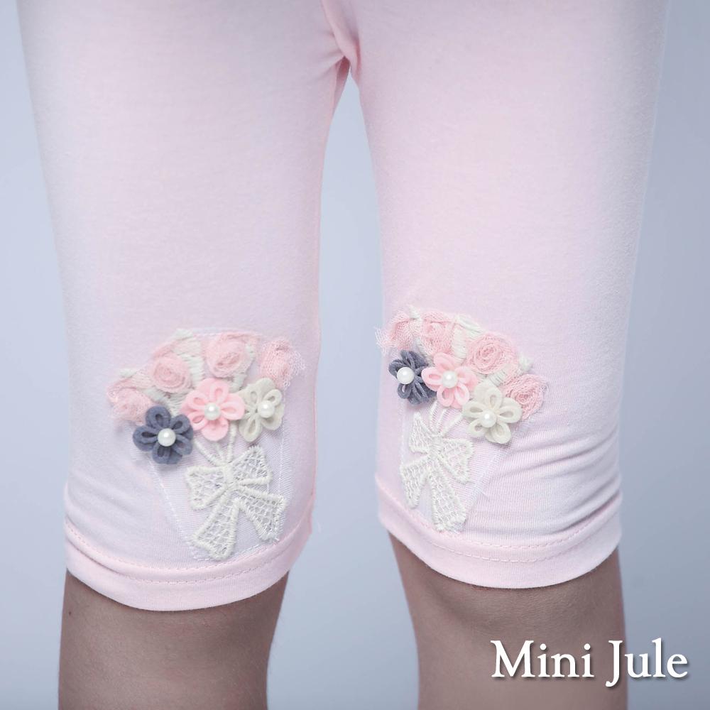 Mini Jule-內搭褲 捧花珍珠蕾絲蝴蝶結內搭褲(粉)