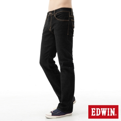 EDWIN-中直筒-503-ZERO無接縫牛仔褲-男-黑色
