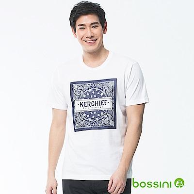 bossini男裝-印花短袖T恤22白