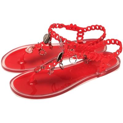 MONCLER 夾腳果凍涼鞋(紅色)