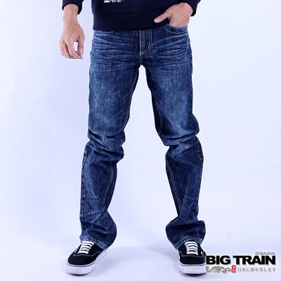 BIG TRAIN 達摩直筒褲-男-深藍