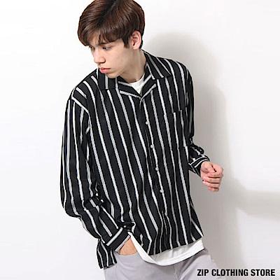 印花素色開領襯衫(20色) ZIP日本男裝