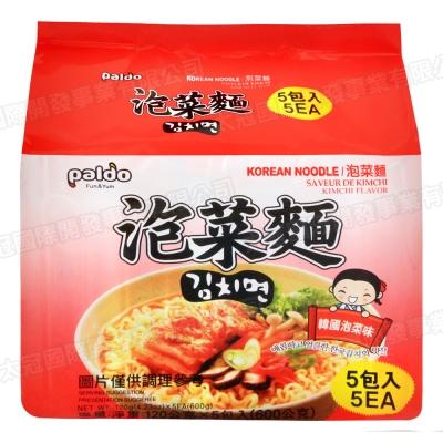 PALDO 韓國高麗麵 -泡菜味 (120gx5入)