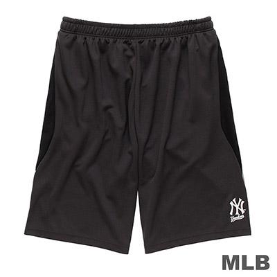 MLB-紐約洋基隊雙色拼接布快排短褲-深灰 (男)